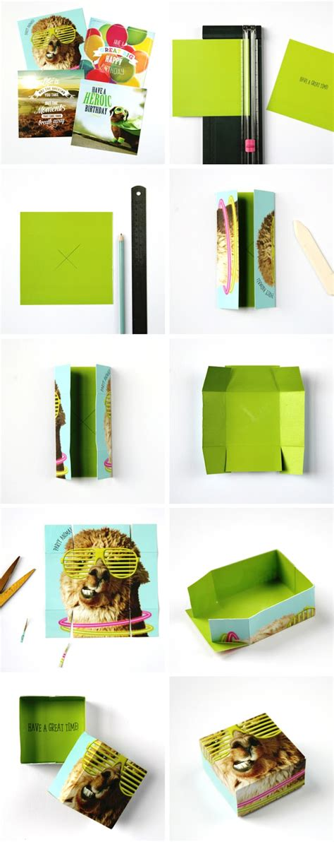 how to make boxes out of card how to make a gift box from an card gathering
