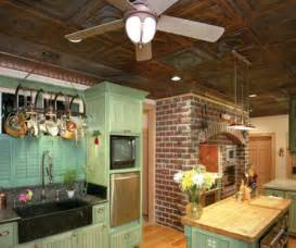 classic tin ceiling tiles eclectic kitchen by