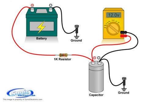 capacitor resistor charging how to charge a capacitor learning center sonic electronix