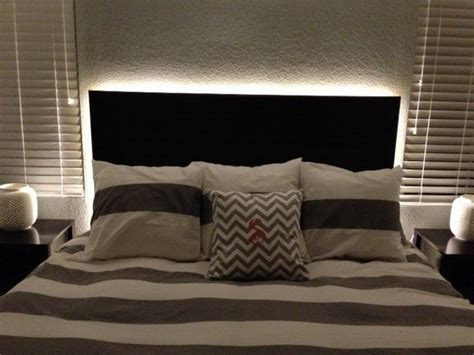 Bed With Lights In Headboard by How To Make A Floating Headboard With Led Lighting