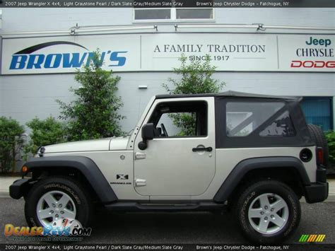 jeep wrangler light grey 2007 jeep wrangler x 4x4 light graystone pearl