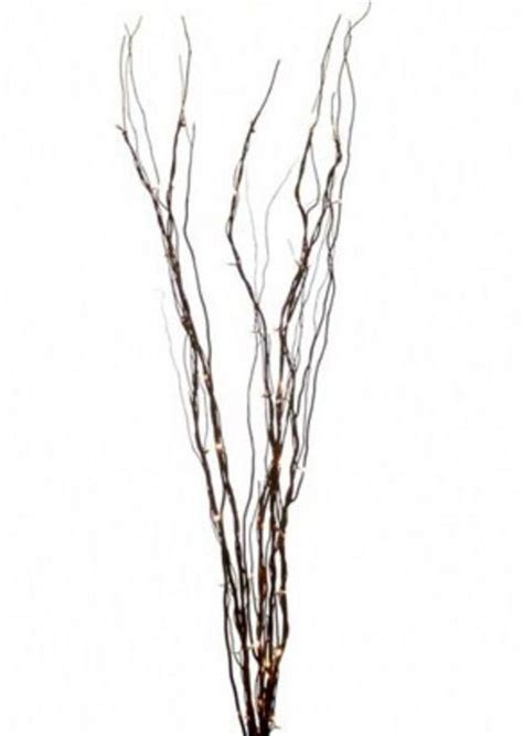 twig l 1 metre black 5 branch 50 micro lights twig stick buy online