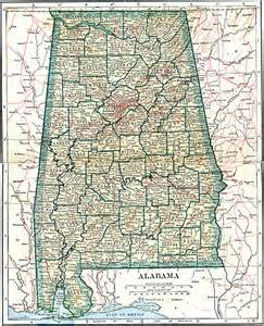 state map of showing cities alabama