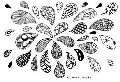 Zentangle Drops Zentangle Coloring Pages For Adults