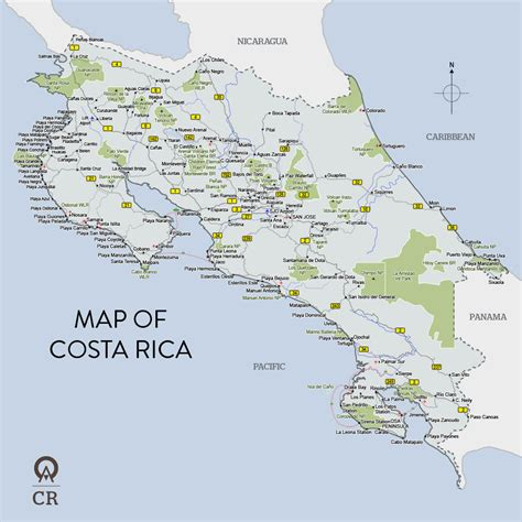 detailed map of costa rica maps of costa rica map library maps of the world