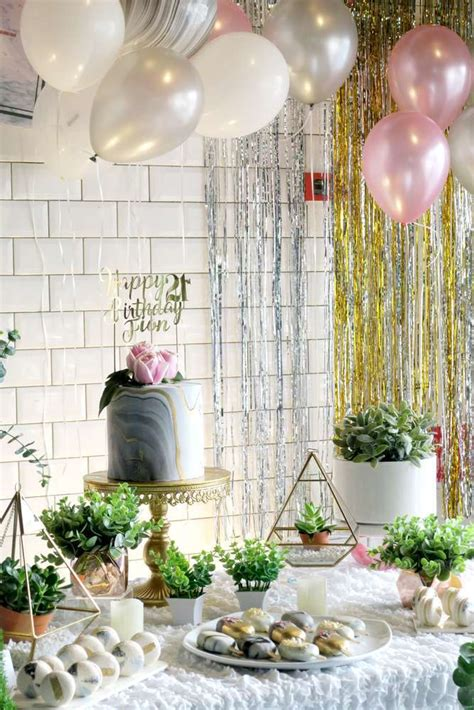whimsical marble birthday party birthday party ideas themes