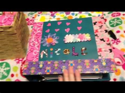 How To Decorate Your Binder Diy Decorating Your Binder Youtube