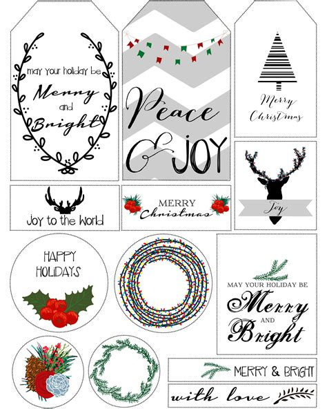 christmas gift labels printable new calendar template site