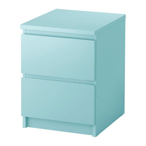 malm commode 2 tiroirs turquoise clair ikea