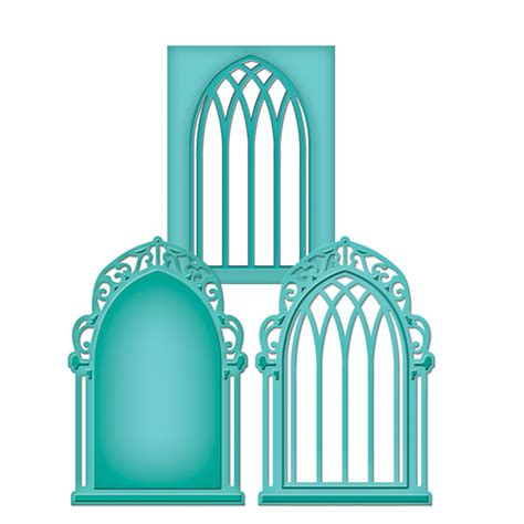 Spellbinders S2 015 Shapeabilities D Lites Window 1 spellbinders window three shapeabilities die cutting template