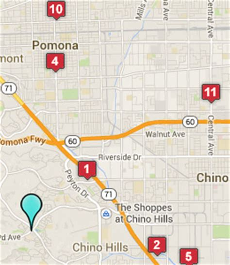 where is chino california on the map map of chino ca hotels
