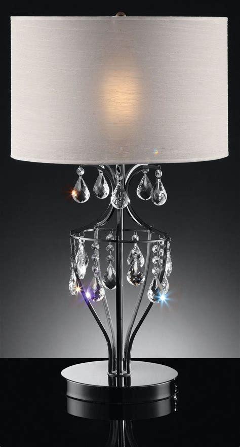 hanging crystal table l ella black chrome hanging crystal table l from