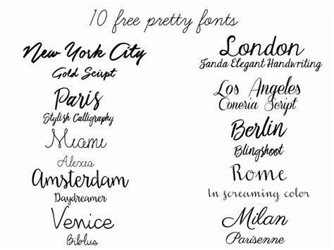 10 pretty free fonts dizzybrunette