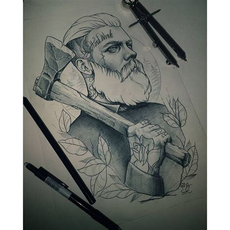 fresh neotraditional sketch from roza sake tattoo crew