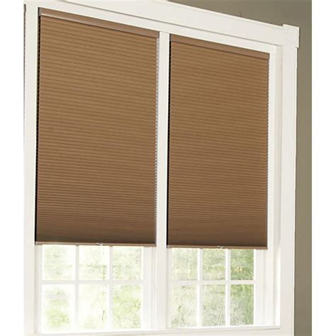 home l shades perfect lift window treatment linen white cordless