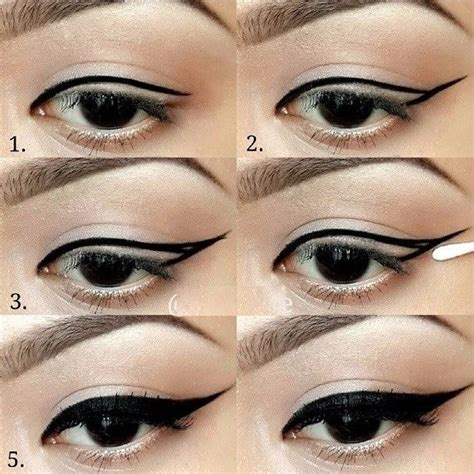 eyeliner tutorial gel liner winged eyeliner tutorial step by step style arena