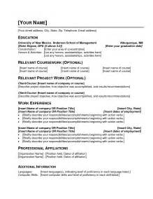 exles of resumes exle a resume with primary