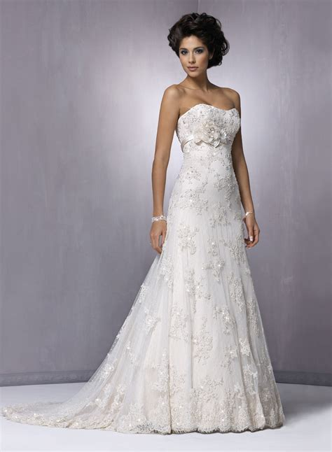 brautkleider schulterfrei strapless lace wedding dress ipunya