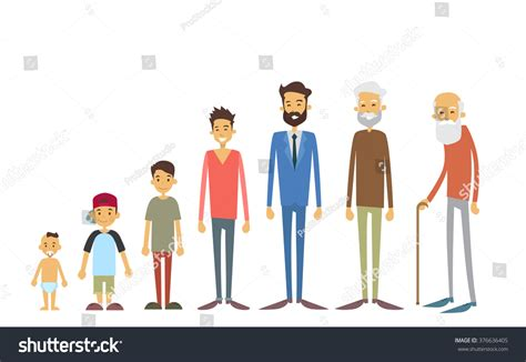 Find Peoples Age Generation Of From Infant To Senior Age Concept Vector Illustration