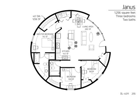 floor plan dl 4011 monolithic dome institute