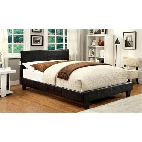 twin bed espresso furniture of america charlie twin platform panel bed in