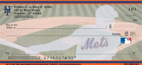 New York Background Check New York Mets Mlb 174 Personal Checks