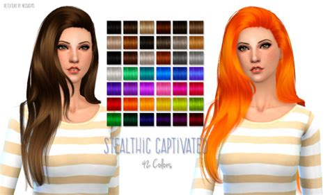 the sims resource stealthic captivated hair sims 4 sims 4 hairs nessa sims stealthic captivated hairstyle