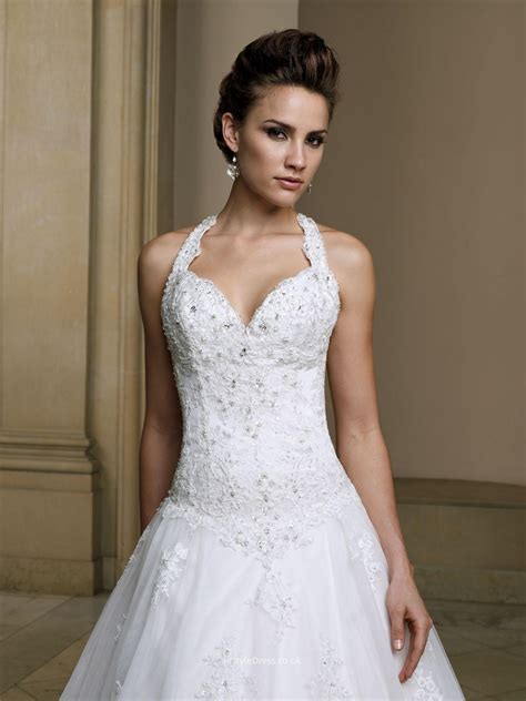 wedding dresses uk sweetheart halter wedding dress uk with embroidered lace