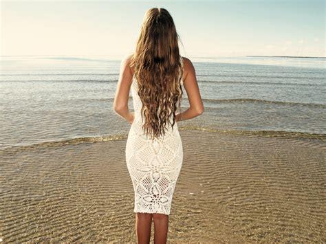 Handmade Crochet Dress - emmaoclothing handmade crochet knee length dress white