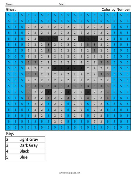 minecraft coloring pages ghast ghast color by number coloring squared