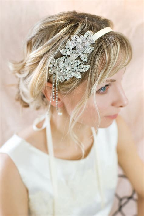 1920 Bridal Hair Styles | 1920s gatsby inspired wedding hairstyles modwedding