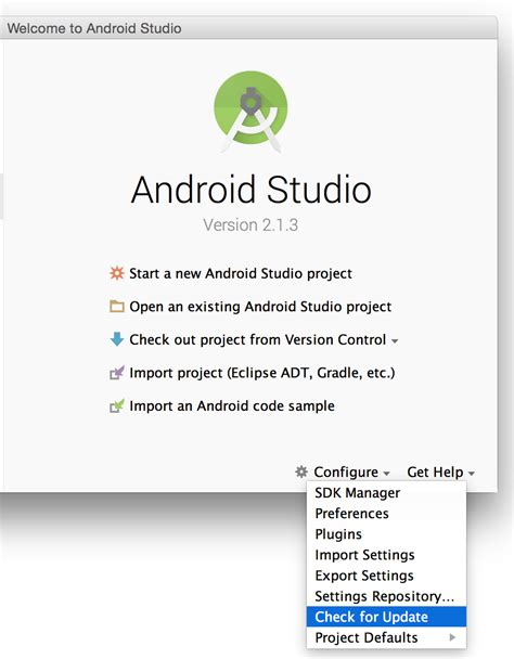 how to update android studio sdk how to update android studio automatically stack overflow