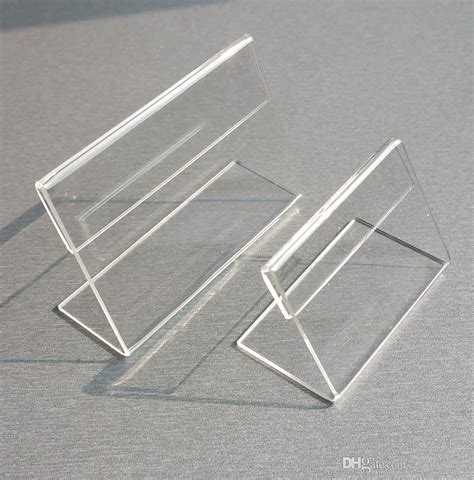 various smaller size t1 2mm clear acrylic plastic sign display paper label card price tag holder