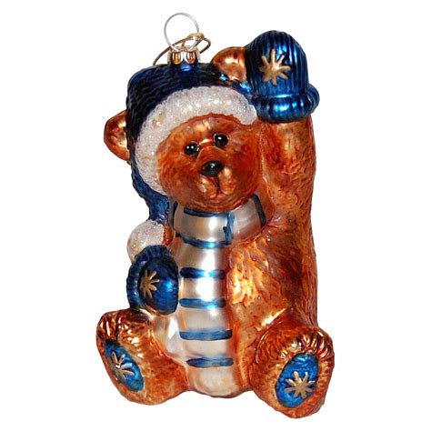 boyds bear large glass christmas ornament from