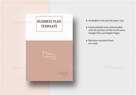 template indesign business plan free business plan templates 43 exles in word free