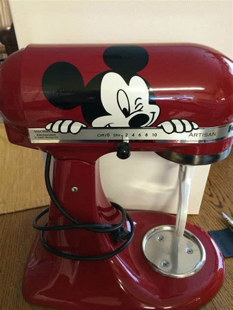 mickey mouse kitchen appliances mickey mouse peeking kitchenaid mixer vinyl decal sticker