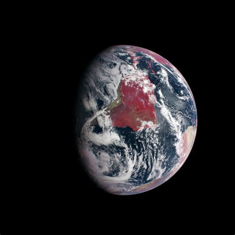 color of earth false color image of earth highlights plant growth nasa