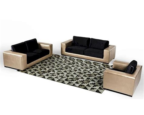 fabric and leather sofa sets modern golden faux crocodile leather fabric sofa set 44l6048