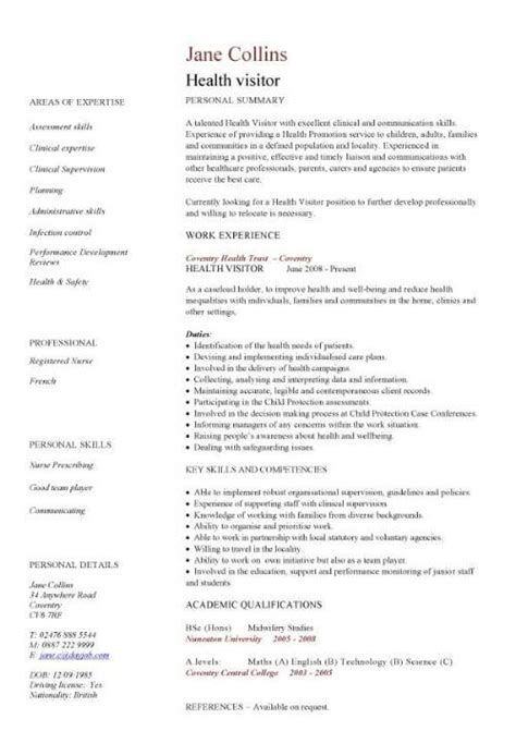 health care resume templates care assistant cv template