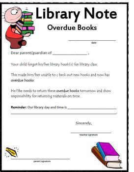notes library overdue letter home by k tpt