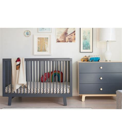 Sparrow Oeuf Crib by Oeuf Sparrow Collection Crib In Slate