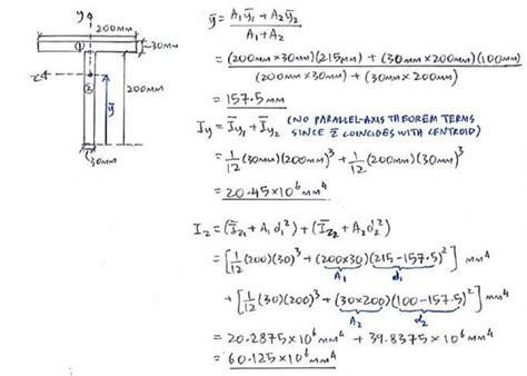 Calculate Section Properties by Question 2 C2 1 Unsymmetric Bending Solid Mechanics Ii