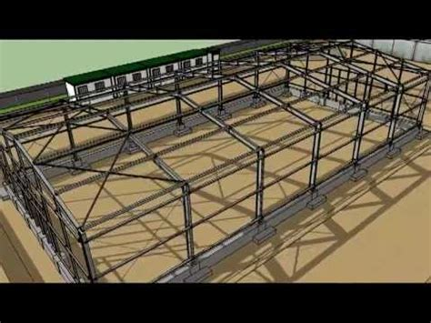 warehouse layout sketchup sketchup steel warehouse from the ground up youtube