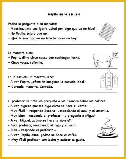 printable short jokes pepito jokes for spanish learners spanish playground