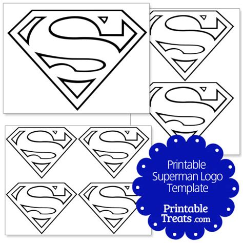template for logo printable superman logo template printable treats