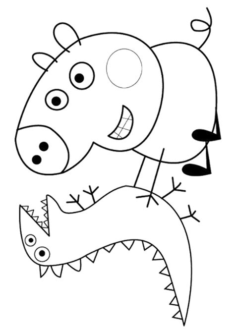 colouring pictures of peppa pig and george george pig free colouring pages