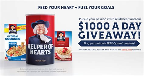Health Sweepstakes - quaker heart health sweepstakes quakerhearthealth com