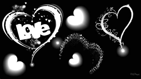 black and white lovers wallpaper black hearts walldevil