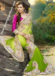 Latest designs of indian bridal sarees 2016 for wedding