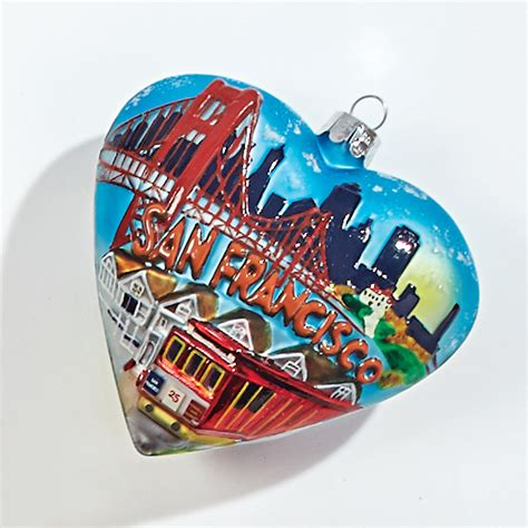san francisco heart christmas ornament gump s